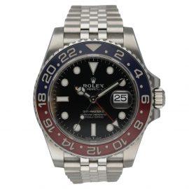 Rolex Black Stainless Steel GMT-MASTER ll 126710BLRO Pepsi Men's Wristwatch 40 MM