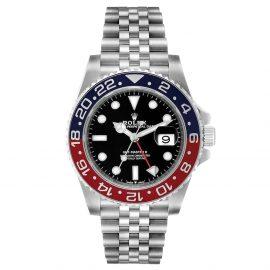 Rolex Black Stainless Steel GMT Master II Pepsi 126710 Men's Wristwatch 40 MM
