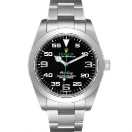 Rolex Black Stainless Steel Oyster Perpetual Air King 116900 Men's Wristwatch 40 MM