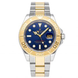 Rolex Blue 18K Yellow Gold And Stainless Steel Yacht-Master 16623 Men's Wristwatch 40 MM