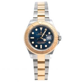 Rolex Blue 18K Yellow Gold & Stainless Steel Yacht-Master 16623 Automatic Men's Wristwatch 40 mm, Blue