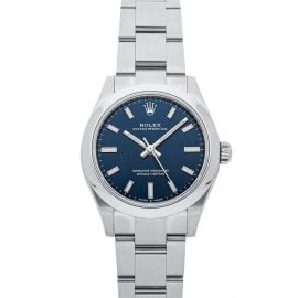 Rolex Blue Stainless Steel Oyster Perpetual 277200 Automatic Men's Wristwatch 31 MM