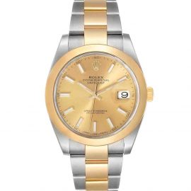 Rolex Champagne 18K Yellow Gold And Stainless Steel Datejust 126303 Men's Wristwatch 41 MM