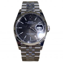 Rolex Datejust 36mm Black Steel Watch for Women