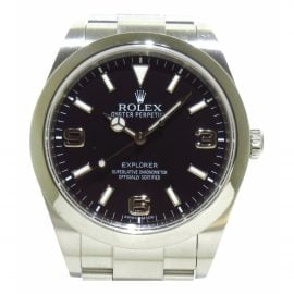 Rolex Explorer 39mm Silver Steel Watch for Women