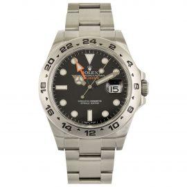 Rolex Explorer II 42mm Black Steel Watch for Men