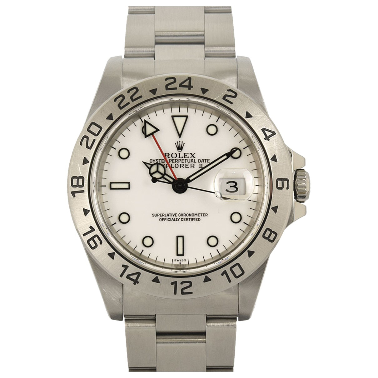 Rolex Explorer II 42mm White Steel Watch for Men