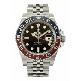Rolex GMT Master Black Steel Watch for Men