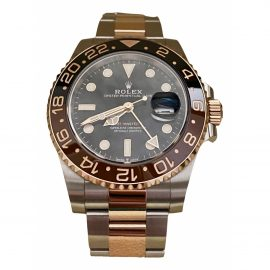 Rolex GMT-Master II Black gold and steel Watch for Men