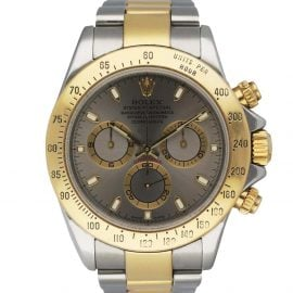Rolex Grey 18K Yellow Gold And Stainless Steel Oyster Perpetual Daytona 116523 Men's Wristwatch 40 MM