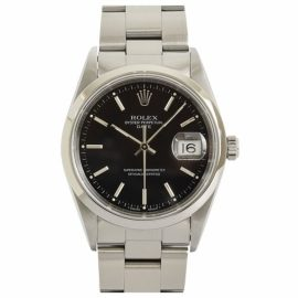 Rolex Oyster Perpetual 31mm Black Steel Watch for Men