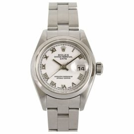 Rolex Oyster Perpetual 31mm White Steel Watch for Women