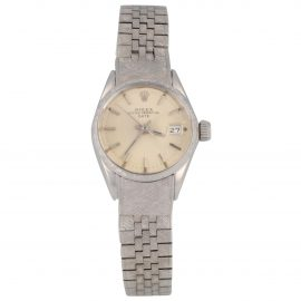 Rolex Oyster Perpetual white gold watch