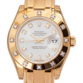 Rolex Pearlmaster 80318, Diamonds, 2004, Very Good, Case material Yellow Gold, Bracelet material: Yellow Gold