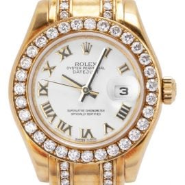 Rolex Pearlmaster 80318, Roman Numerals, 2006, Very Good, Case material Yellow Gold, Bracelet material: Yellow Gold