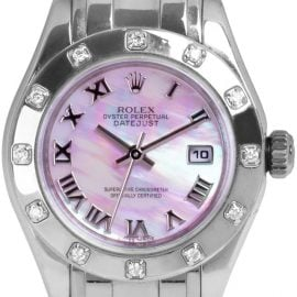 Rolex Pearlmaster 80319, Roman Numerals, 2010, Very Good, Case material White Gold, Bracelet material: White Gold
