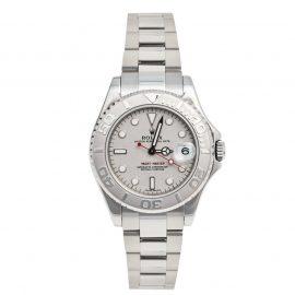 Rolex Platinum Stainless Steel Yacht-Master 168622 Men's Wristwatch 35 mm