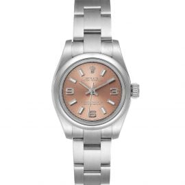 Rolex Salmon Stainless Steel Oyster Perpetual 176200 Women's Wristwatch 26 MM