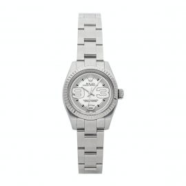 Rolex Silver Stainless Steel Oyster Perpetual 176234 Women's Wristwatch 26 MM