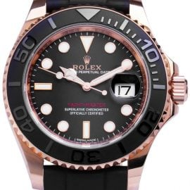 Rolex Yacht-Master 116655, Baton, 2015, Very Good, Case material Rose Gold, Bracelet material: Rubber