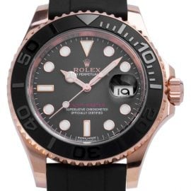 Rolex Yacht-Master 116655, Baton, 2017, Very Good, Case material Rose Gold, Bracelet material: Rubber