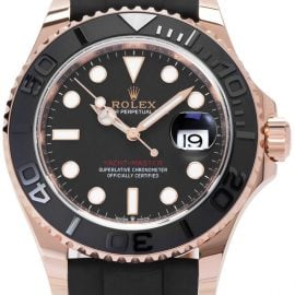 Rolex Yacht-Master 126655 , Baton, 2020, Very Good, Case material Rose Gold, Bracelet material: Rubber