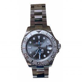 Rolex Yacht-Master Grey Steel Watch for Women