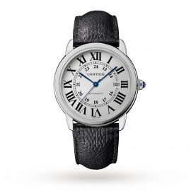 Ronde Solo de Cartier watch, 42mm, steel, leather