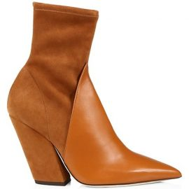 Rose Leather & Suede Ankle Boots