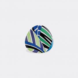 Rosenthal Tableware - 'Palm Leaves' bowl, blue in blue, multicolor porcelain