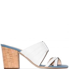 Rosie Assoulin Funky 70mm double-strap mules - Blue