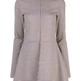 Rosie Assoulin zipped plaid blouse - Multicolour