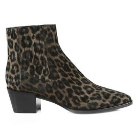 Rover Cheetah-Print Suede Ankle Boots