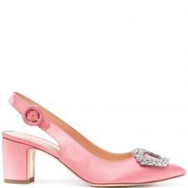 Rupert Sanderson embellished sling-back pumps - Pink