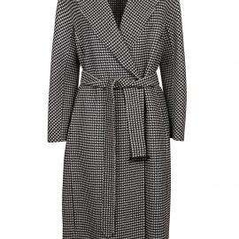 S Max Mara White Wool Coat