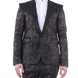 SAINT LAURENT Jackets Blazer Men Black and gold