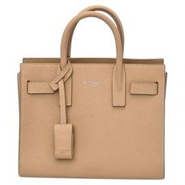 Saint Laurent Beige Leather Nano Sac de Jour Bag