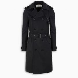 Saint Laurent Black double-breasted trench coat
