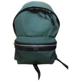 Saint Laurent City Backpack Green Cloth Bag for Men