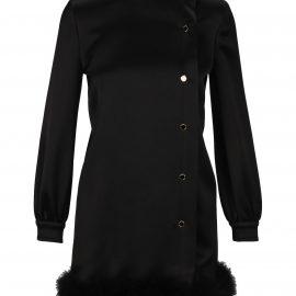 Saint Laurent Feathers Trim Dress