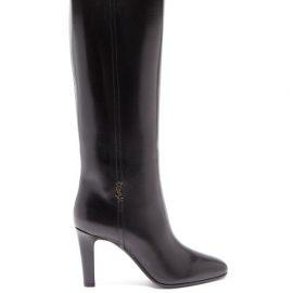 Saint Laurent - Jane Knee-high Leather Boots - Womens - Black
