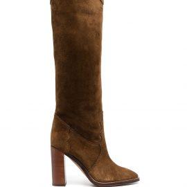 Saint Laurent Kate knee-high boots - Brown
