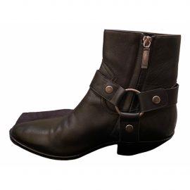 Saint Laurent Leather biker boots
