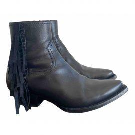 Saint Laurent Lukas leather biker boots