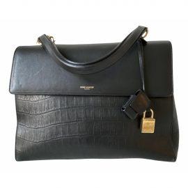 Saint Laurent Moujik Black Leather Handbag for Women