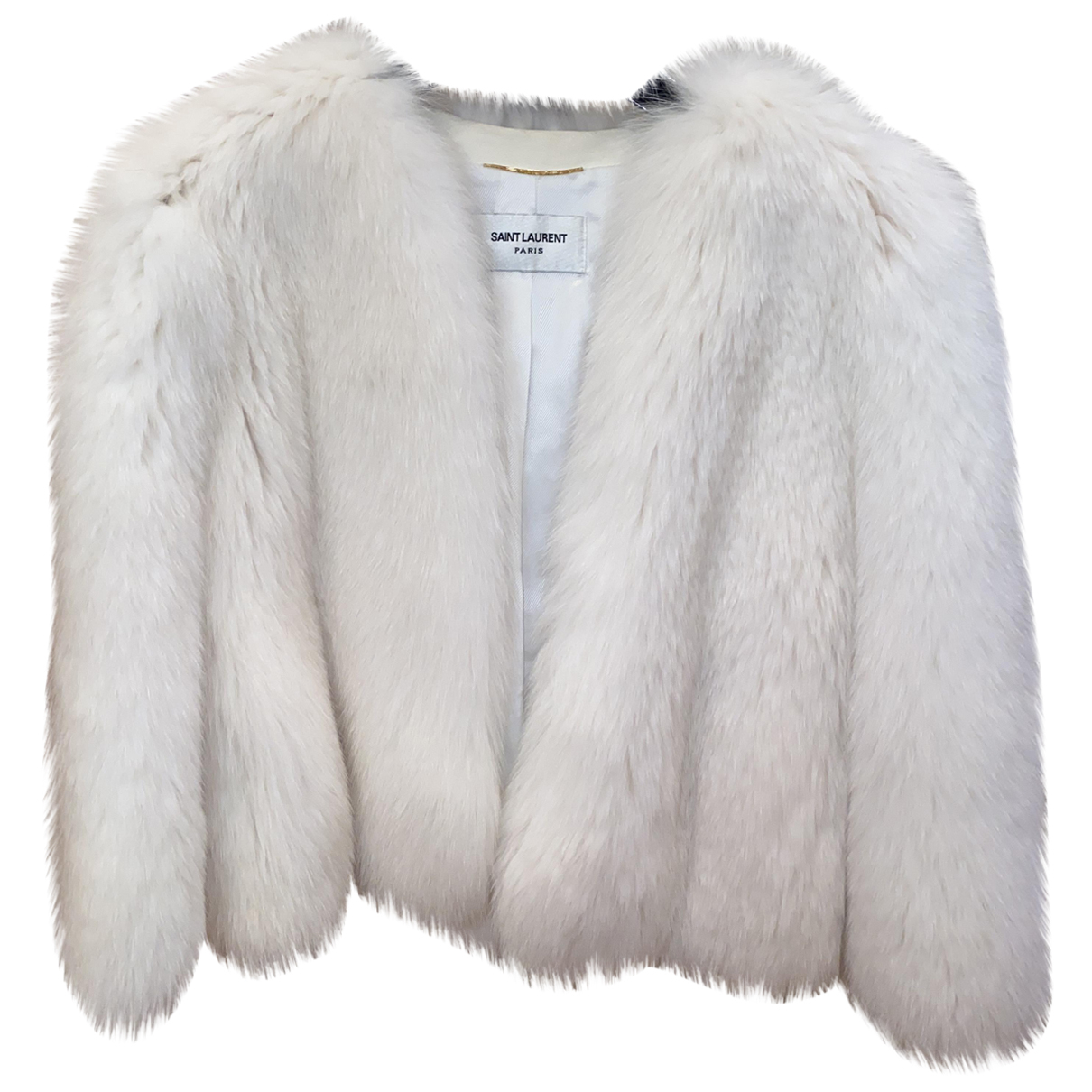 Saint Laurent N Black Fox Coat for Women
