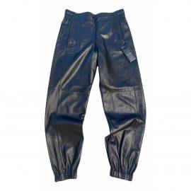 Saint Laurent N Black Leather Trousers for Women