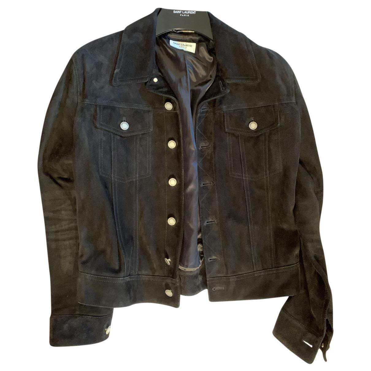 Saint Laurent N Black Suede Jacket for Men