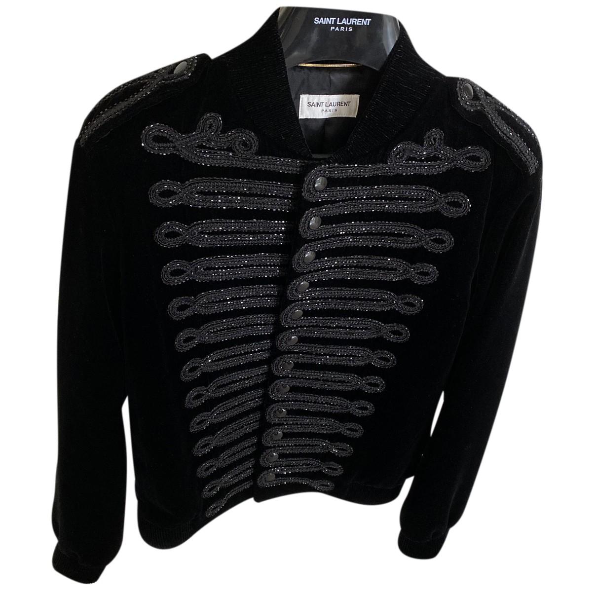 Saint Laurent N Black Velvet Jacket for Women