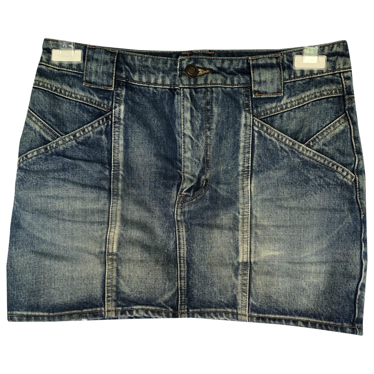 Saint Laurent N Blue Denim - Jeans Skirt for Women